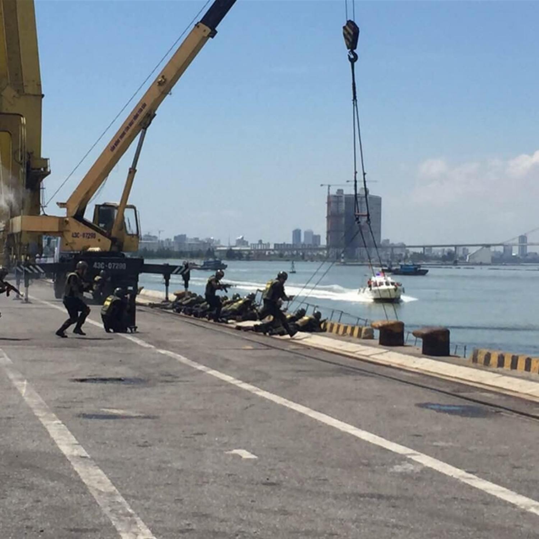 Cục Hàng hải Việt Nam tổ chức diễn tập phòng, chống khủng bố, đảm bảo an ninh cảng biển tại cảng Tiên Sa, TP Đà Nẵng