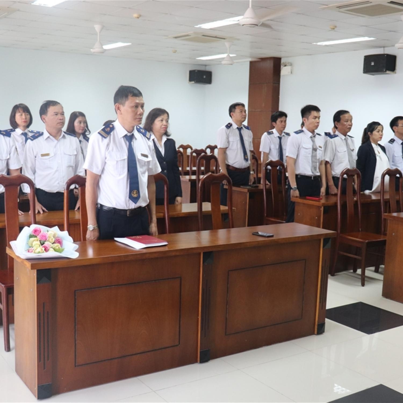 Lễ kết nạp đảng viên của Chi bộ Cảng vụ hàng hải Đà Nẵng.